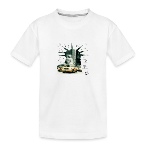 NYC - Lady liberty and the yellow cabs - Teenager Premium Bio T-Shirt
