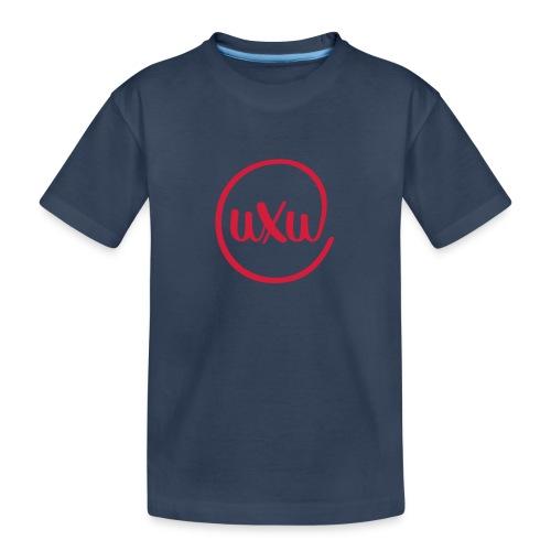 UXU logo round - Teenager Premium Organic T-Shirt