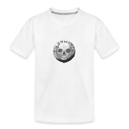 Rigormortiz Black and White Design - Teenager Premium Organic T-Shirt