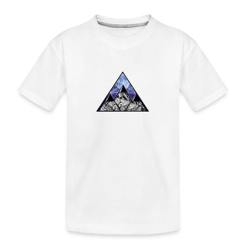 Grime Apparel Mountain Range Graphic Shirt. - Teenager Premium Organic T-Shirt