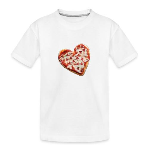Pizza a cuore - Maglietta ecologica premium per ragazzi