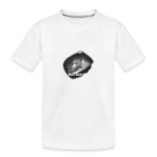 I am Hell Searcher Black Hoodie Men - Teenager Premium Organic T-Shirt