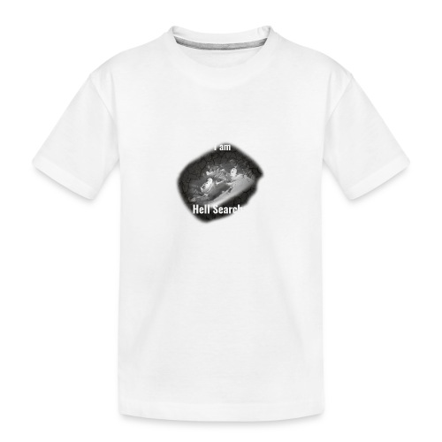 I am Hell Searcher T-Shirt Black - Teenager Premium Organic T-Shirt
