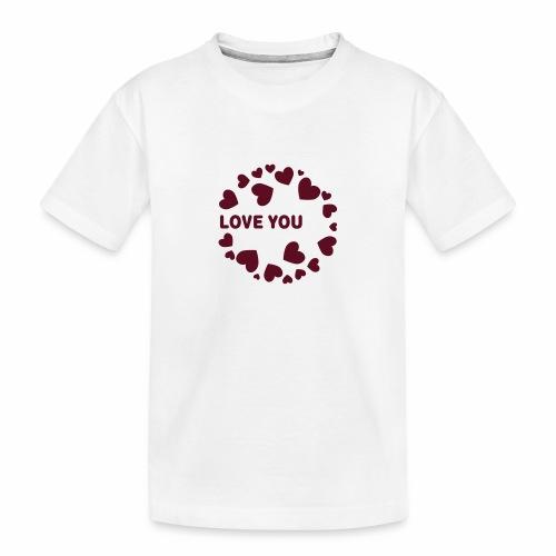 Herzen LOVE YOU - Teenager Premium Bio T-Shirt