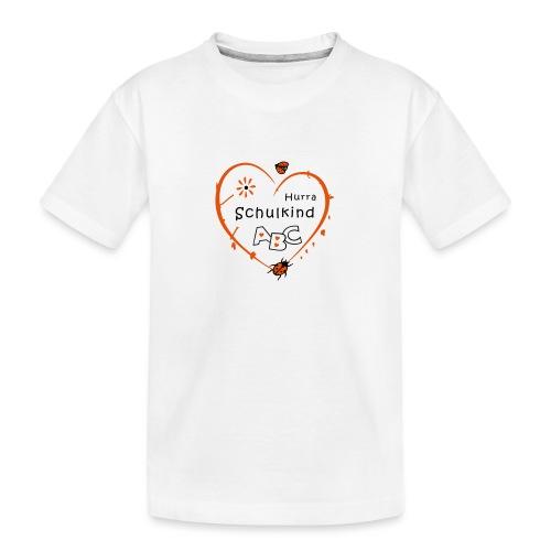 Schulkind, erstklassig, Schulanfang - Teenager Premium Bio T-Shirt