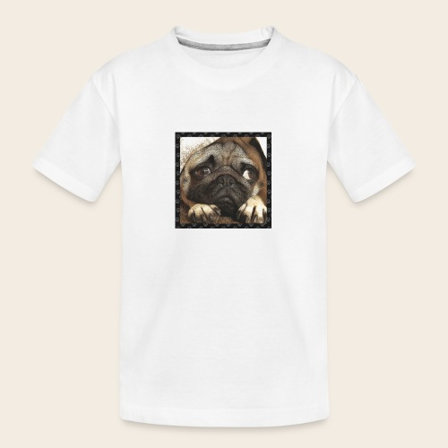Mops Hund 1 - Teenager Premium Bio T-Shirt