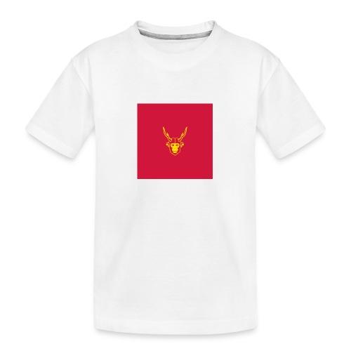 scimmiacervo sfondo rosso - Maglietta ecologica premium per ragazzi