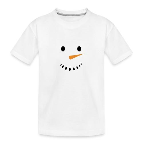 Bonhomme de neige Noël Hiver - T-shirt bio Premium Ado