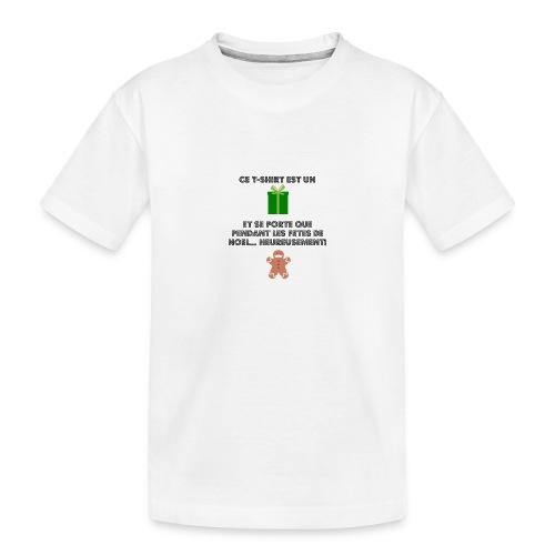 T-shirt cadeau de Noël - T-shirt bio Premium Ado