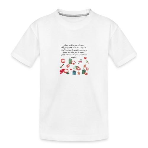Bonne resolution Noël Nouvel An - T-shirt bio Premium Ado