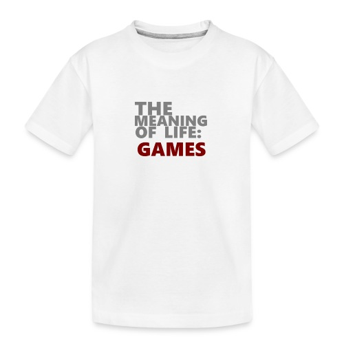 T-Shirt The Meaning of Life - Teenager premium biologisch T-shirt