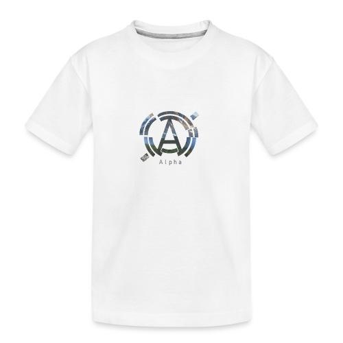 AlphaOfficial Logo T-Shirt - Teenager Premium Organic T-Shirt
