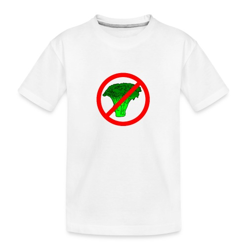 no broccoli allowed - Teenager Premium Organic T-Shirt