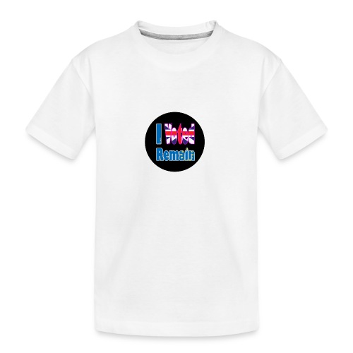 I Voted Remain badge EU Brexit referendum - Teenager Premium Organic T-Shirt