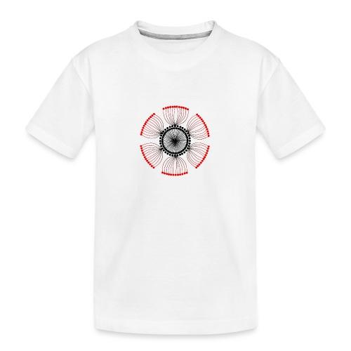 Red Poppy Seeds Mandala - Teenager Premium Organic T-Shirt