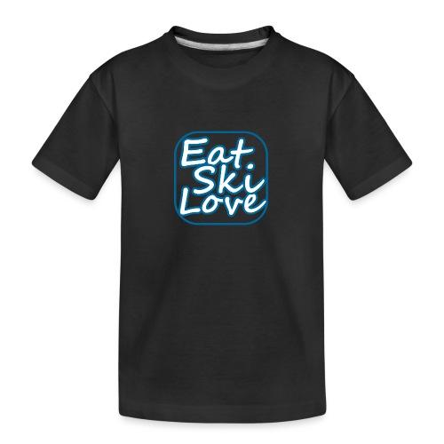 eat ski love - Teenager premium biologisch T-shirt