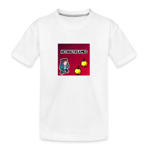 Logo kleding - Teenager premium biologisch T-shirt