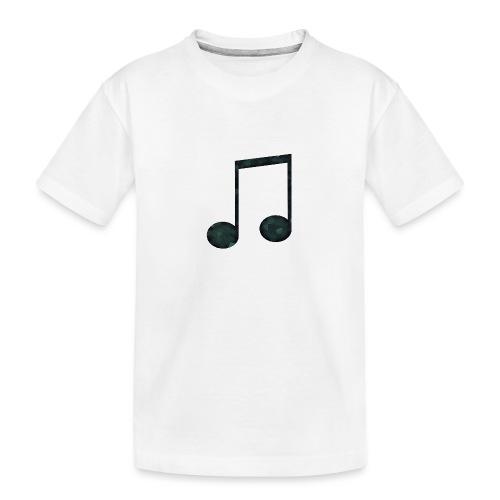 Low Poly Geometric Music Note - Teenager Premium Organic T-Shirt