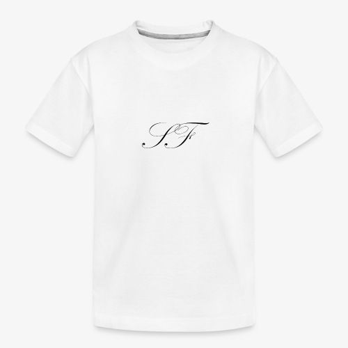 SF HANDWRITTEN LOGO BLACK - Teenager Premium Organic T-Shirt