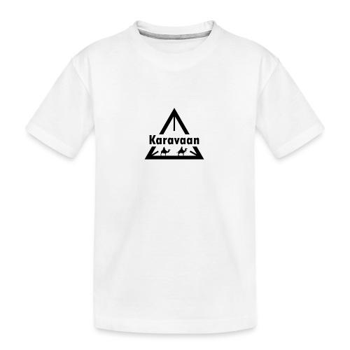 Karavaan Black (High Res) - Teenager premium biologisch T-shirt