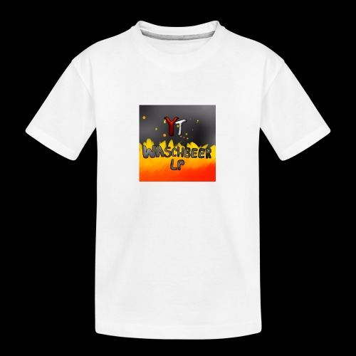 Waschbeer Design 2# Mit Flammen - Teenager Premium Bio T-Shirt