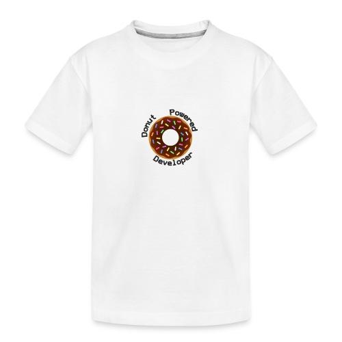 Donut Powered Developer - Camiseta orgánica premium adolescente