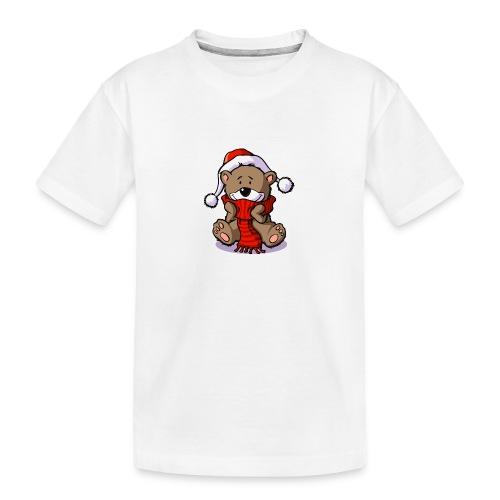 vl080b_winterbaer_4c - Teenager Premium Bio T-Shirt