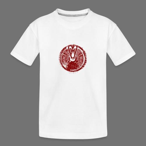Maschinentelegraph (red oldstyle) - Teenager Premium Bio T-Shirt