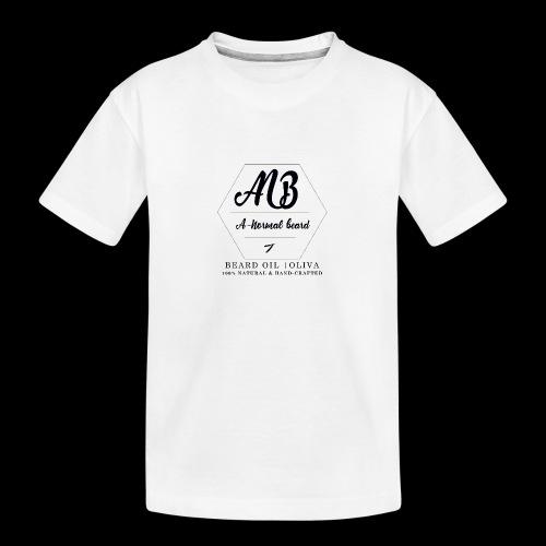 Beard Oil   Oliva Logo - Teenager Premium Bio T-Shirt