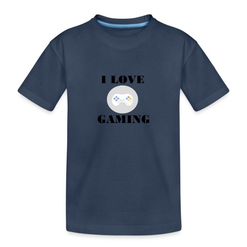 I love Gaming Design - Teenager Premium Bio T-Shirt