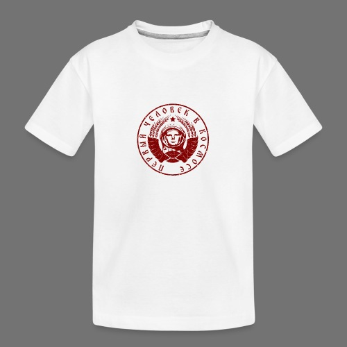 Cosmonaut 1c red (oldstyle) - Teenager Premium Organic T-Shirt