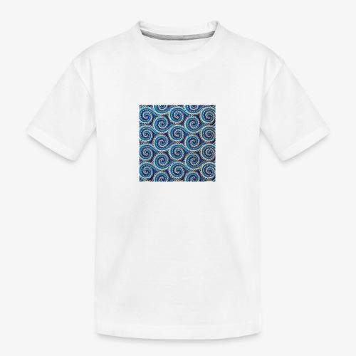 Spirales au motif bleu - T-shirt bio Premium Ado