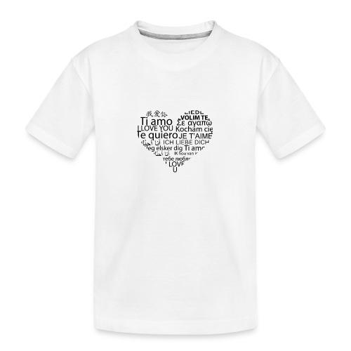 sticker je t aime en coeur ambiance sticker - Teenager Premium Bio T-Shirt