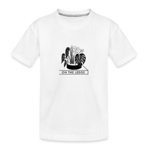 On The Ledge black and white logo - Teenager Premium Organic T-Shirt