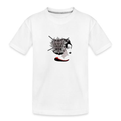 Warrior Flower - Teenager premium biologisch T-shirt