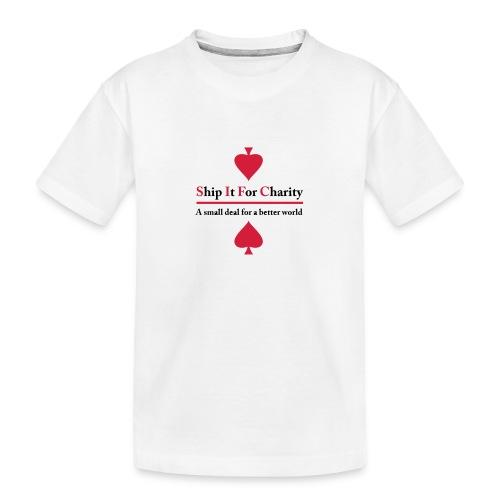 Ship It For Charity - Ekologisk premium-T-shirt tonåring