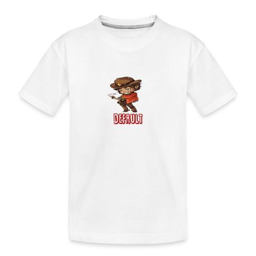 DeF Clan logo - Premium økologisk T-skjorte for tenåringer
