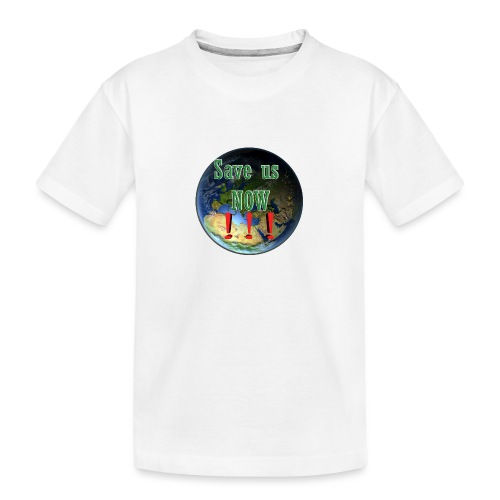 save us earth friday for future - Teenager Premium Organic T-Shirt
