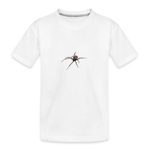 Spinne - Schwarze Witwe - Aquarell Zeichnung - Teenager Premium Bio T-Shirt