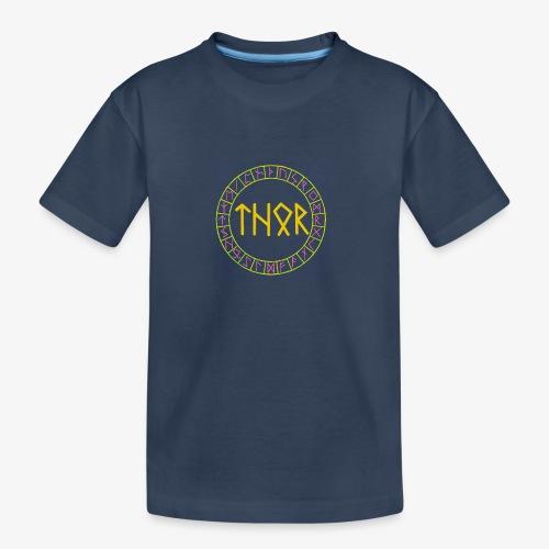 Wikinger - Name von Thor in Runen - Teenager Premium Bio T-Shirt