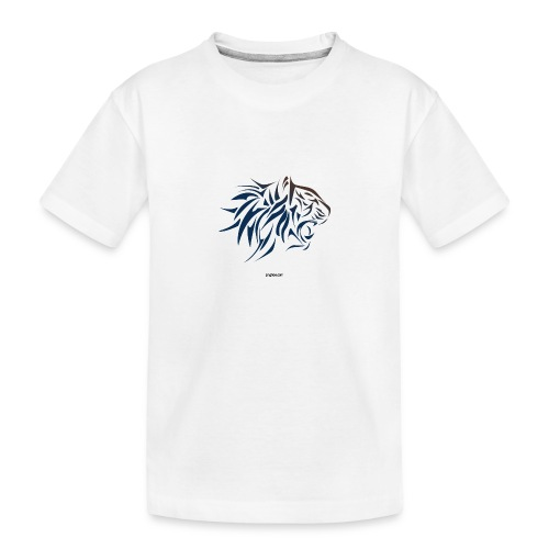 tiger vector - Camiseta orgánica premium adolescente
