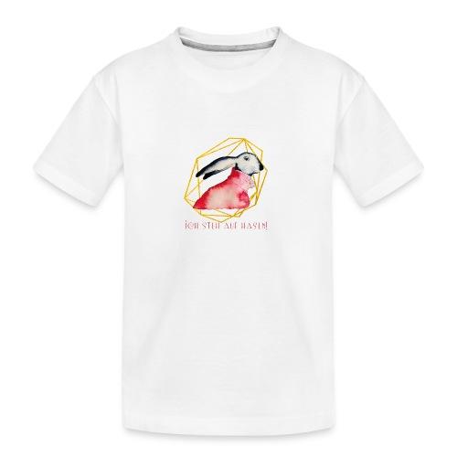 Ich steh' auf Hasen! - Teenager Premium Bio T-Shirt