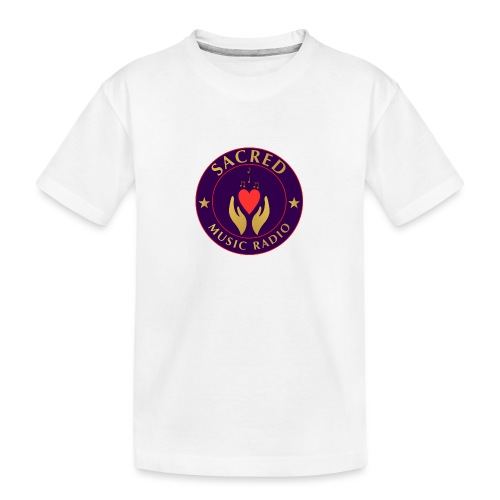 Spread Peace Through Music - Teenager Premium Organic T-Shirt