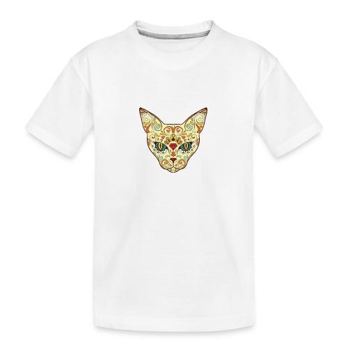 Skull Cat - Maglietta ecologica premium per ragazzi