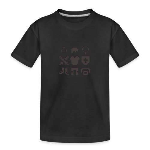 RPG Inventory Slots - Teenager premium T-shirt økologisk