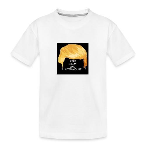 Keep Calm And Kitemmuort Capelli Trump - Maglietta ecologica premium per ragazzi