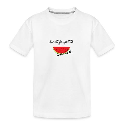 Don't forget to smile - Teenager Premium Bio T-Shirt