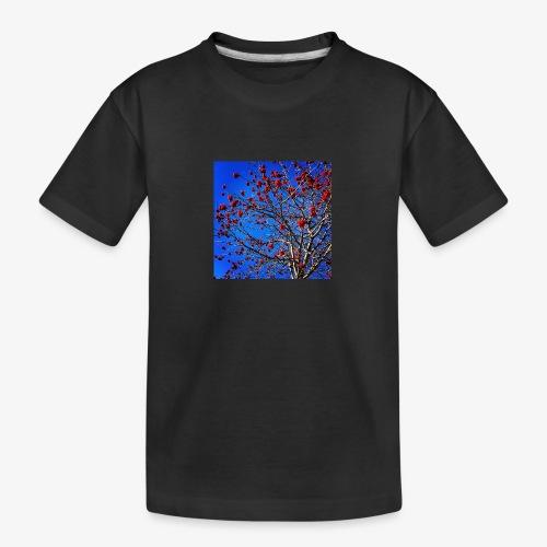 Red Flowers and Blue Sky - Maglietta ecologica premium per ragazzi