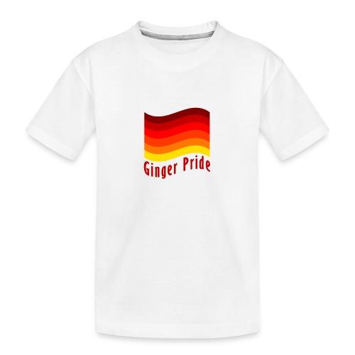 Ginger Pride flag Dark png - Teenager Premium Organic T-Shirt
