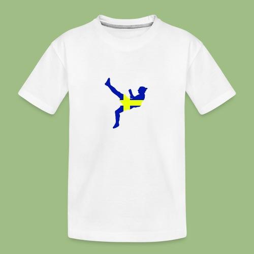 Ibra Sweden flag - Ekologisk premium-T-shirt tonåring